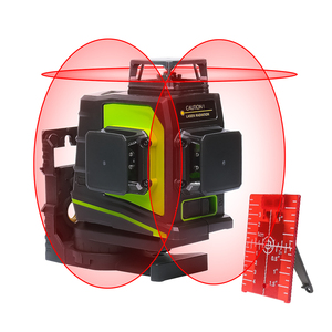 Image 2 - Huepar 12 خطوط ثلاثية الأبعاد عبر مستوى خط الليزر الذاتي التسوية 360 درجة عمودي وأفقي الصليب الأخضر الأحمر شعاع خط USB شحن
