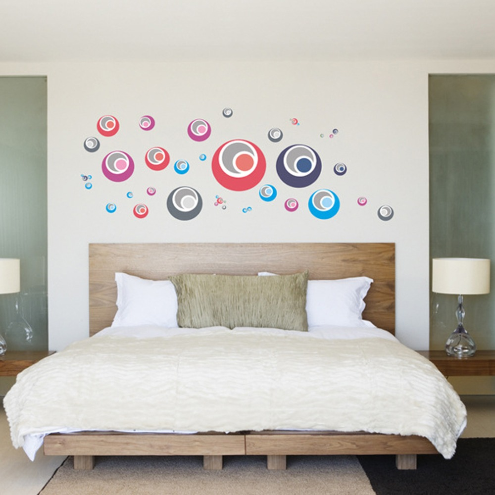 Online coloring room - Colorful Circles Wall Decal Home Sticker Paper Art Picture Diy Murals Kid Nursery Baby Room Decoration