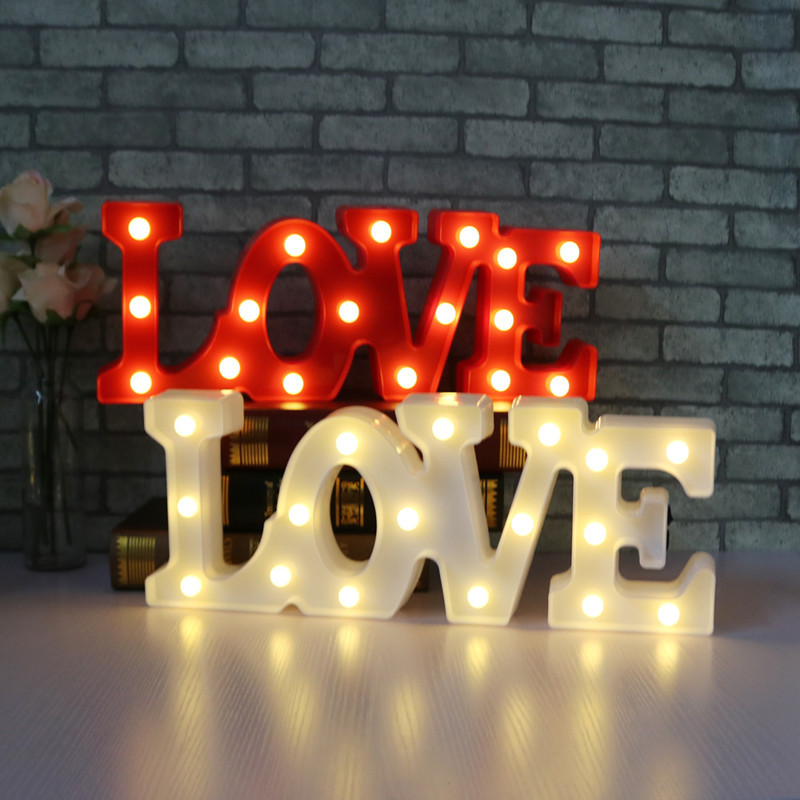 New Romantic Indoor Wall Night Lamp LOVE Letter LED NightLight Home Party Christmas Decoration Powered by battery or USB charger 30pcs in one postcard love letter to myself romantic love christmas postcards greeting birthday message cards 10 2x14 2cm