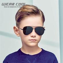 2019 Wear Cool Girl Boy Classic Retro Cute Pilot Sun glasses Fashion Brand Kids Sunglasses Anti-uv Baby Sun-shading Eyeglasses