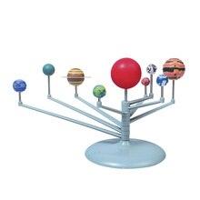 New Children Educational DIY Nine Planets In Solar System Planetarium Painting Science Teaching font b Toys