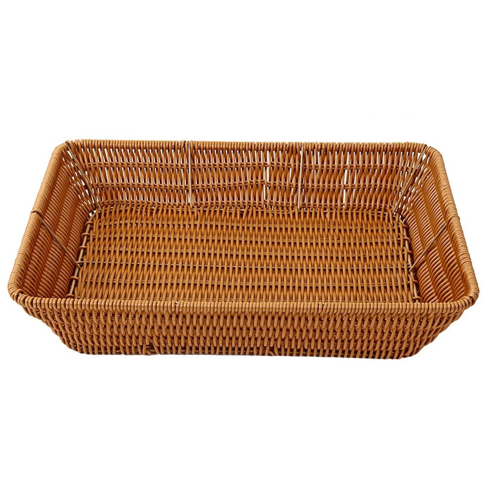 US $5.68 46% OFF|Fruit Storage Basket Coffee Wicker Shallow Storage Basket  Drawer Bedroom Kitchen Office Lounge Organizer Kitchen Space Saving-in ...