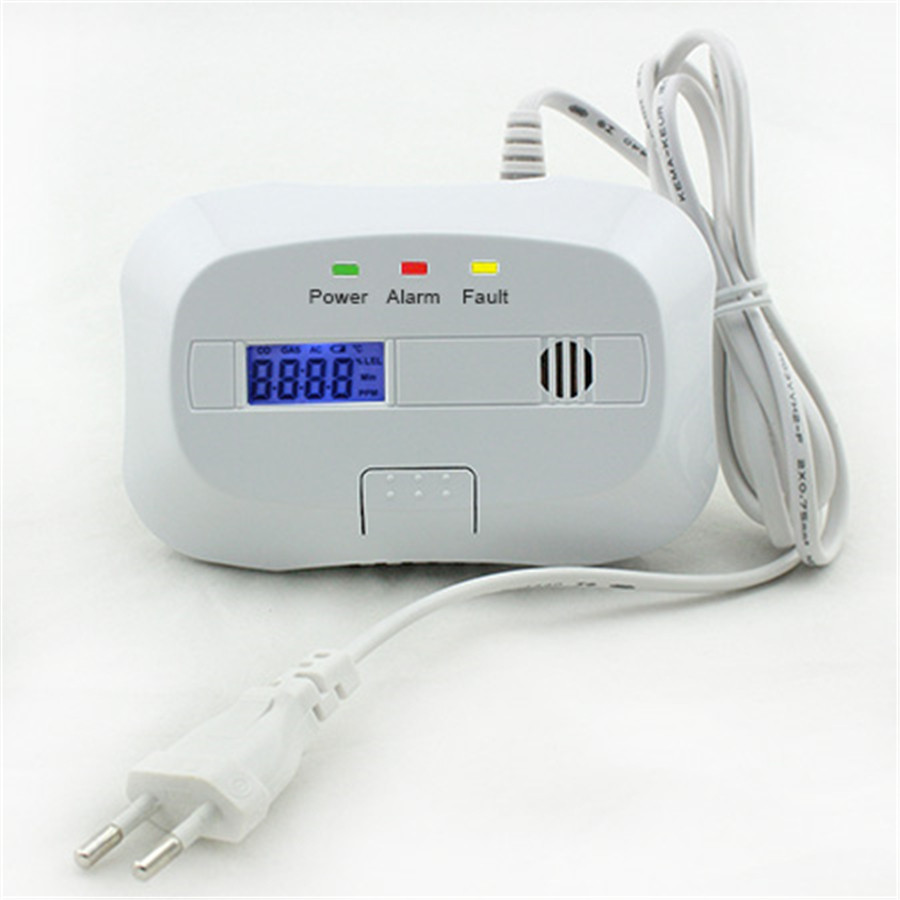 Minritech Standalone LPG Natural Gas Detector Combustible Leak Detector Alarm System for Home Security With LCD Dsiplay