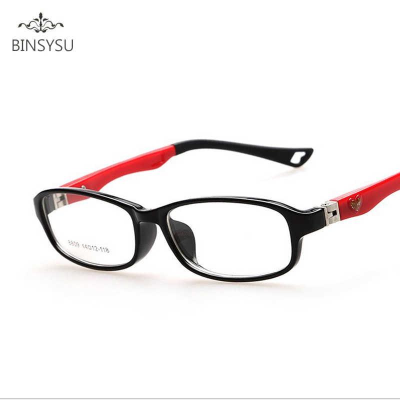 a3cc87cb36f Myopia TR90 Optical Eyeglasses Kids Frames Rubber Flexible Glasses Girls  Boys Myopia Lense TR Children Spectacle