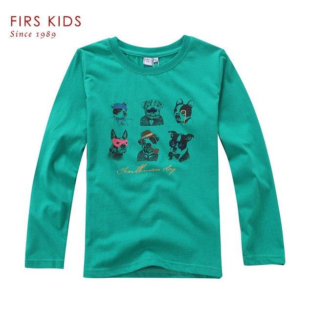 FIRS KIDS 4-14Years children kids baby boys t shirts spring autumn new cartoon children kids long sleeve t-shirts for boys
