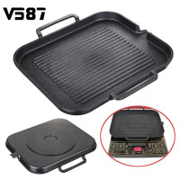 Aluminum Alloy BBQ Grill Pan Non Stick Cooking Grill Pan Griddle Steak Frying Pan Kitchen Accessories Camping Picnic Cookware