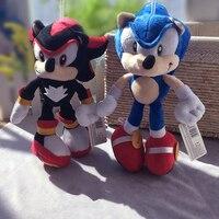 2Style 28cm Sonic pluszowe zabawki lalki czarny niebieski cień Sonic pluszowa miękka wypchana zabawka dla dzieci dzieci prezenty świąteczne w Filmy i telewizja od Zabawki i hobby na