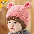 2017 new autumn and winter children Plush Hat Baby Hat wool wool warm bear ear hat other children