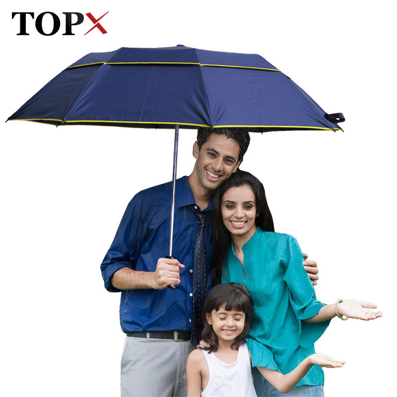 10b4c97724a6 Brand Large Folding Umbrella Men Rain Woman Double Golf Business Gift  Umbrella Semi-Automatic High Quality Windproof Umbrellas