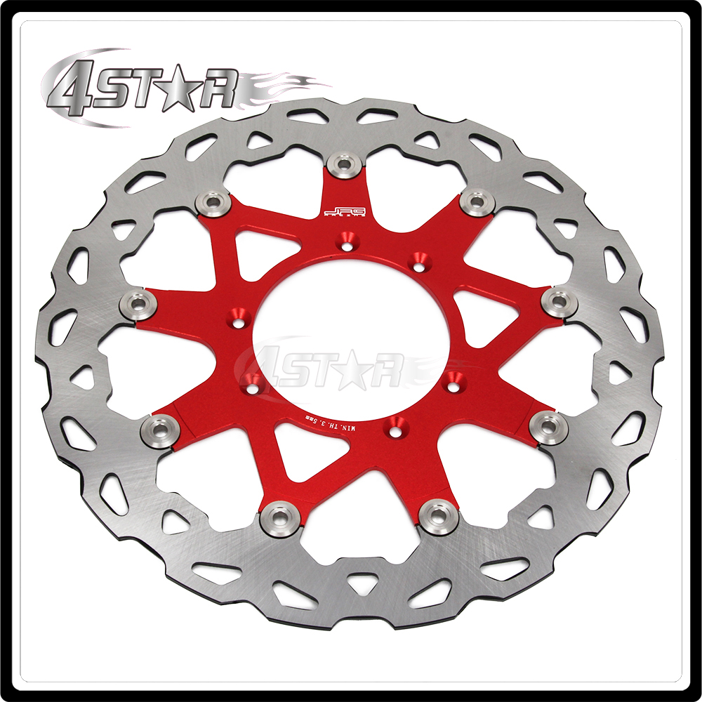 320MM Red Front Wavy Floating Brake Disc Rotor For CR125 CR250 CRF250R CRF250X CRF450R CRF450X CRF230F CR500 Dirt Bike цена