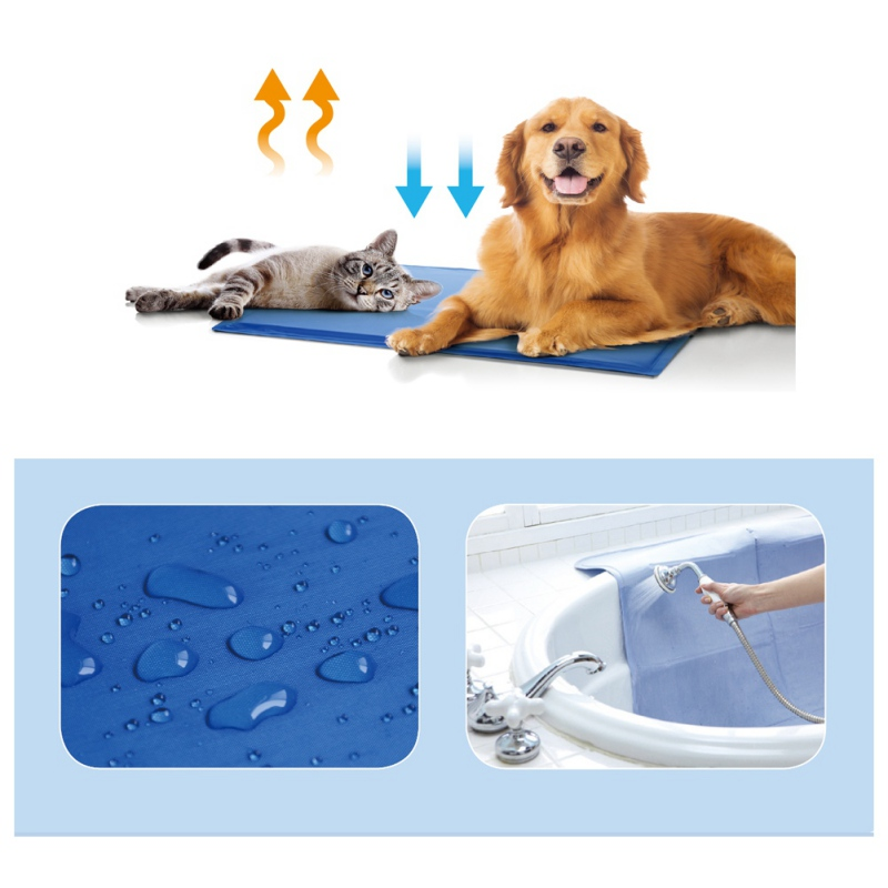 Summer Pet Mat Dog Puppy Cat Cool Ice Mat Pad Dog Bed Cooling Sleeping Kennel Bed Pad Travel Mat S M MD Size Mats for Dog Bed