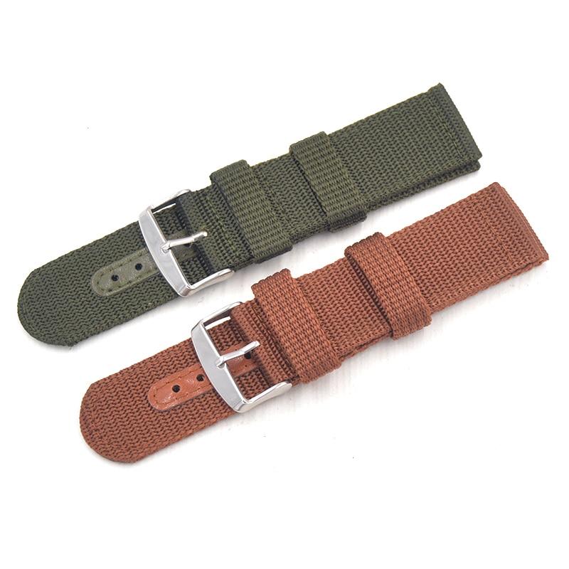 Correa de nailon para deportes al aire libre correa de la OTAN 18mm 20mm 22mm 24mm correa de reloj de lona hecha a mano hebilla de Metal de acero para Seiko