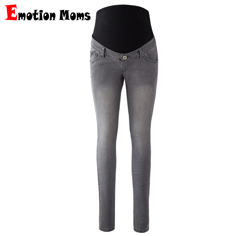 Emotion Moms Womens Maternity Jeans Pants For Pregnant Women Nursing Trousers Pregnancy Overalls Denim Long Prop Belly Legging woman fashion slim solid knee distrressed maternity wear jeans premama pregnancy prop belly adjustable pants for women c73