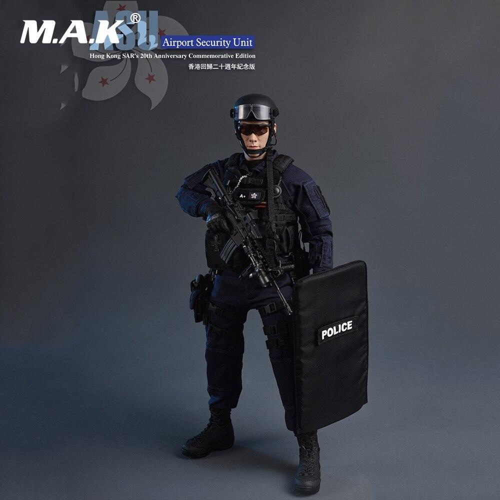1/6 полноразмерный набор для мужчин воинов, экшн Фигурка «ASU (охранное устройство в аэропорту)», памятник 20 летию в Hong Kong SAR.