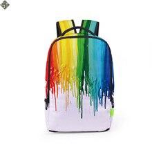3D Style Women Backpacks Floral Print Bookbags Nylon Men Backpack School Bag For Girls Rucksack Female Travel Backpack