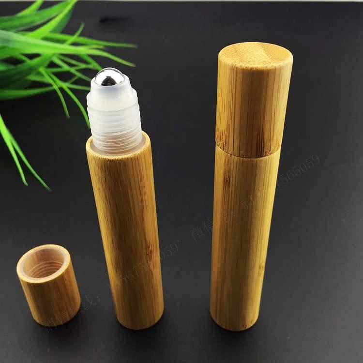 15มิลลิลิตรไม้ไผ่ม้วนบนขวด/พลาสติกหรือstellบอลลูกกลิ้งขวด/โลชั่นขวดเครื่องสำอางสำหรับน้ำหอม,น้ำมัน-ใน ขวดรีฟิล จาก ความงามและสุขภาพ บน   2