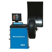 Microcomputer Automatic Wheel Balancer With 15 Color VGA Monitor Tire Balancing Machine