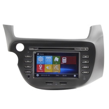 Touch screen car radio gps stereo dvd player 7″ New car for Honda Fit with IPOT, USB, FM, AM, DVD car steer wheel control RDS