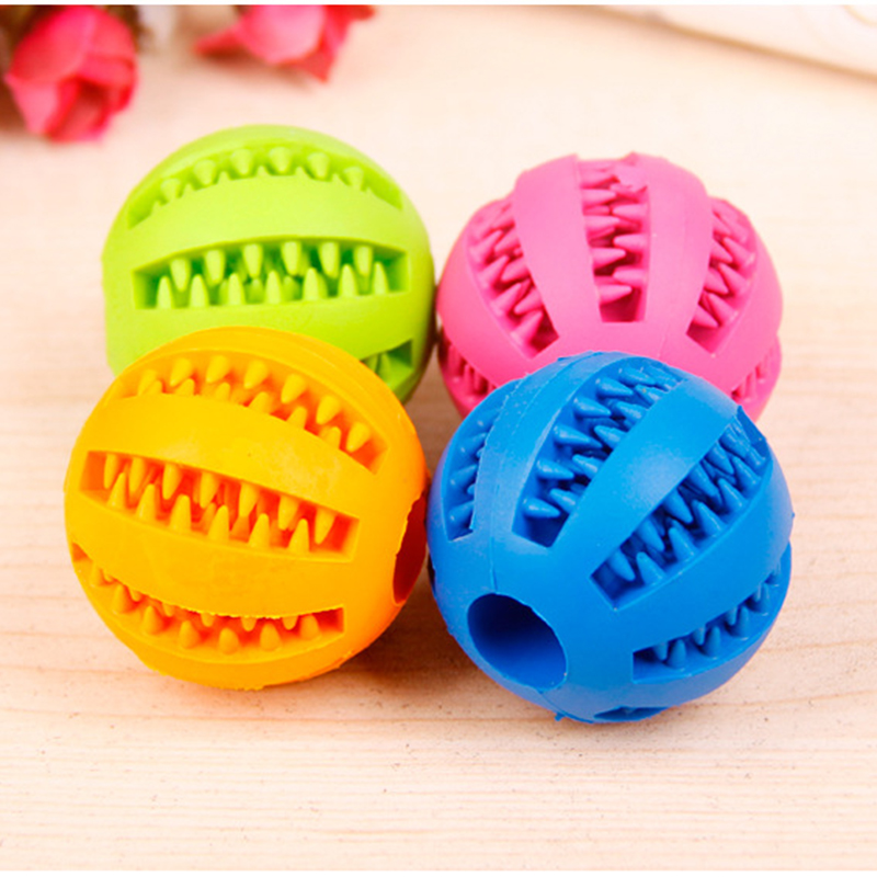 OnnPnnQ Rubber Pet Dog Cat Toy Ball Chew Treat Holder Tooth Cleaning Ball Food Dog Puppy Ball Training Interactive Pet Supplies2