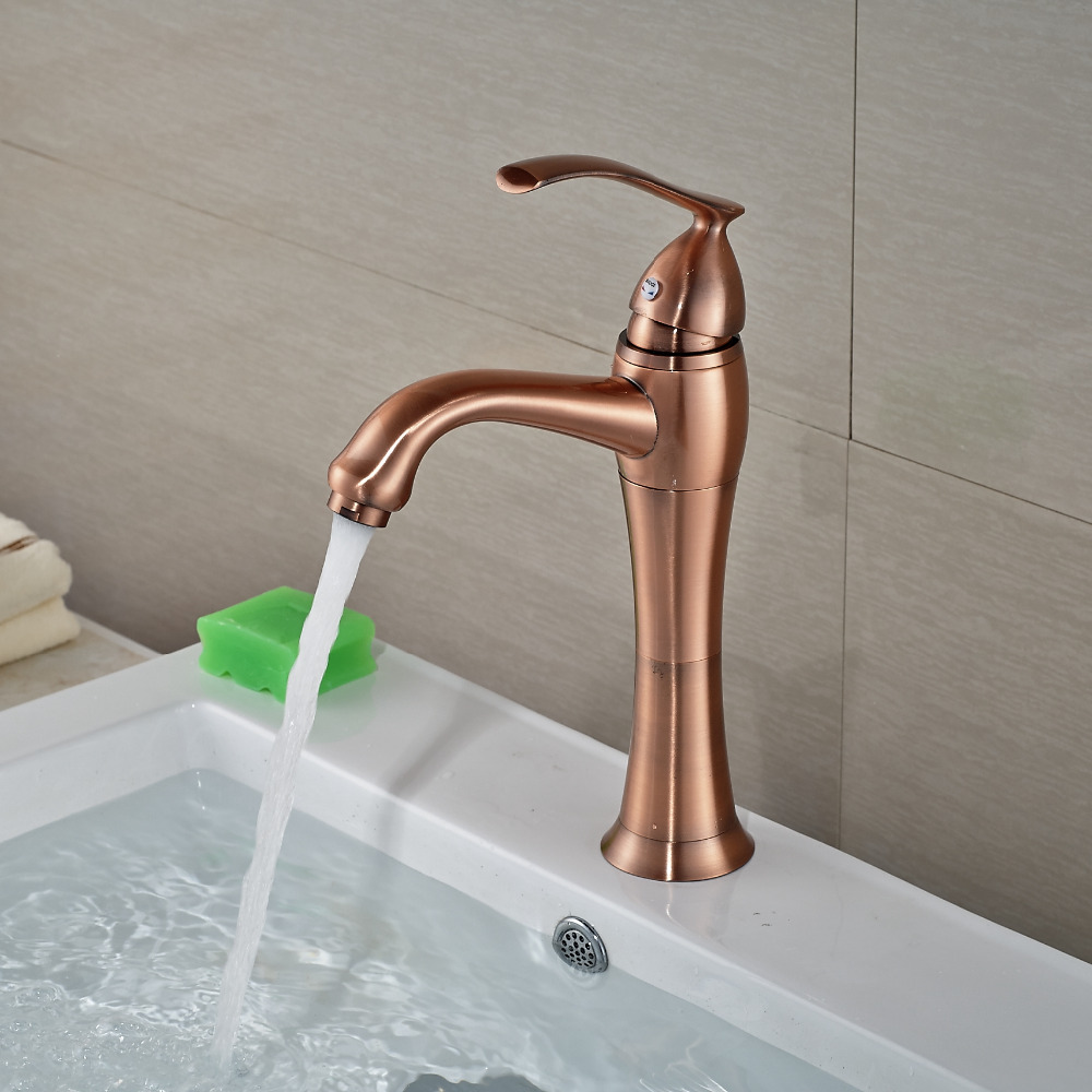 ФОТО Wholesale And Retail Antique Copper Teappot Bathroom Faucet Hot Cold Mixer Tap Single Handle Hole Vessel Mixer Tap