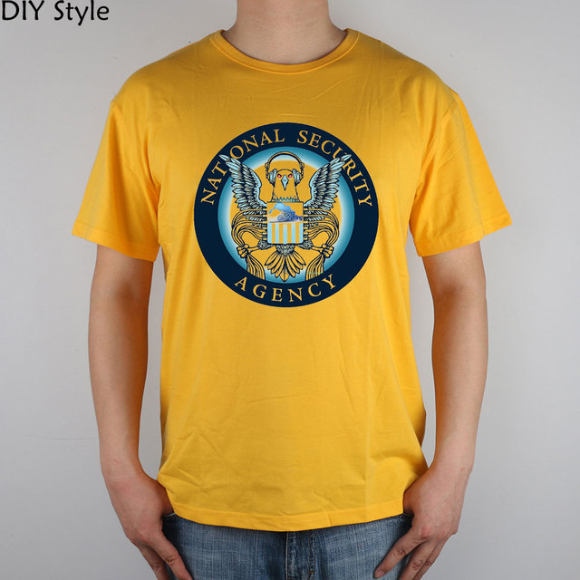 53fef88a Homeland Security Network Google INTERNET NSA T-shirt cotton Lycra top 9172  Fashion Brand t