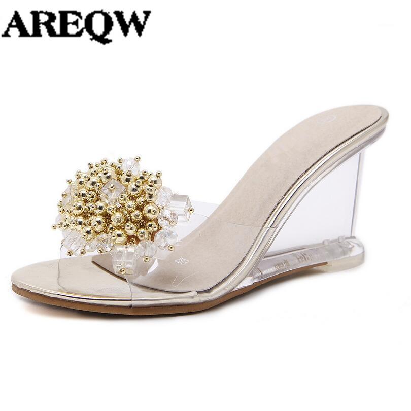 AREQW wedges heel sandals women 2017 summer new sexy ...