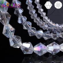 OlingArt 3mm/4mm/6mm/8mm Bicone Upscale Austrian Multicolored crystals color beads Loose bead bracelet DIY Jewelry Making