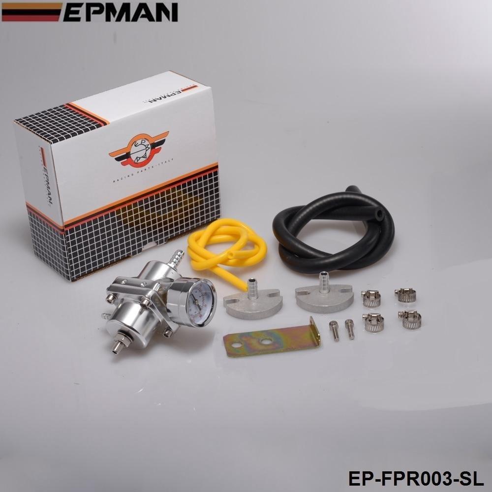 Jdm Universal 0-140 PSI Adjustable Fuel Pressure Regulator FPR /Gauge For BMW E39 5 Series Facelift 2000-2003 EP-FPR003
