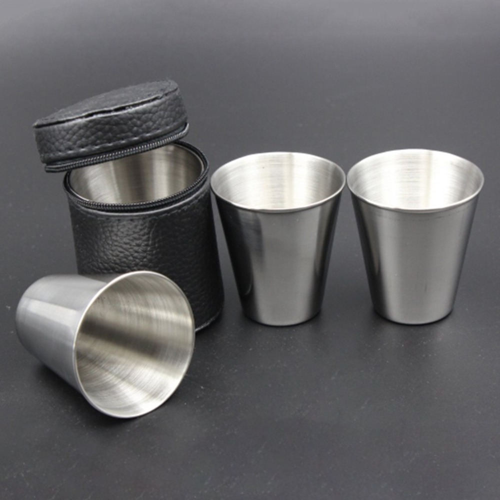 30ml Stainless Steel Camping Tableware Compact Size Cover Mug Camping Cups For Outdoor Travel Party 2018 Dropshipping Dependable Performance Sports & Entertainment Campcookingsupplies
