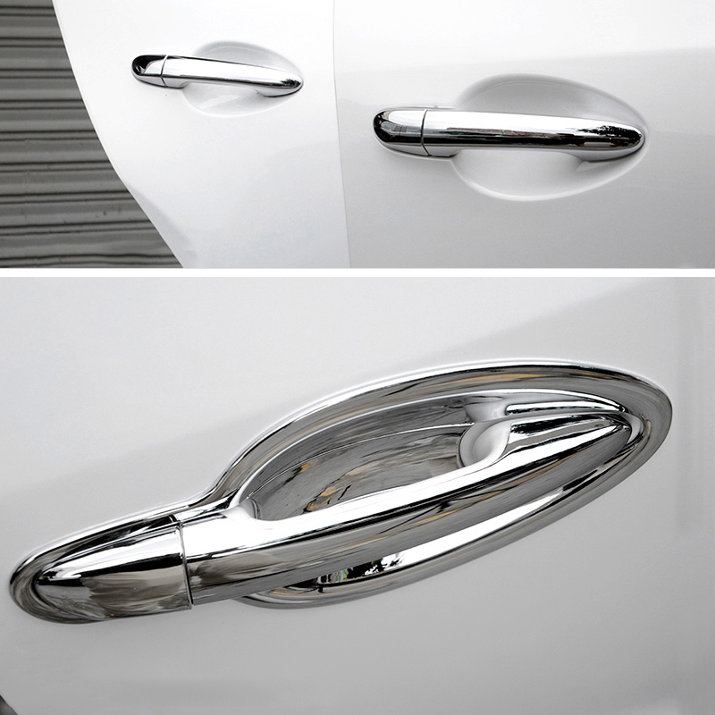 Chromium Styling Side Door Handle Bowl Covers Trim Stickers For <font><b>Mazda</b></font> <font><b>CX</b></font>-<font><b>5</b></font> CX5 <font><b>CX</b></font> <font><b>5</b></font> 2012 2013 2014 2015 <font><b>2016</b></font> 2017 <font><b>Accessories</b></font> image