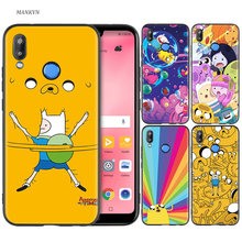 Silicone Case Cover for Huawei P20 P10 P9 P8 Lite Pro 2017 P Smart+ 2019 Nova 3i 3E Phone Cases Adventure Time with Finn and Jak(China)