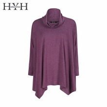 HYH HAOYIHUI 2017 New Fashion Women Sweatshirt Autumn Irregular Hem Pile Collar Loose Long Sleeve Pullovers Adventure Time