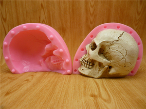 Image 5 - 3D Skull Silicone Mold Fondant Cake Mold Resin Gypsum Chocolate Candle Candy Mold Free Shipping