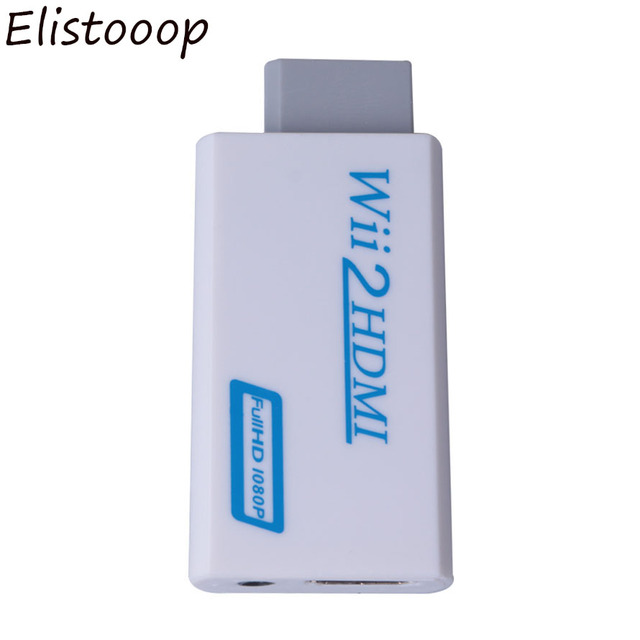 Elistooop  Wii to HDMI Adapter Converter Support FullHD 720P 1080P 3.5mm Audio for Wii2 HDMI Adapter for HDTV