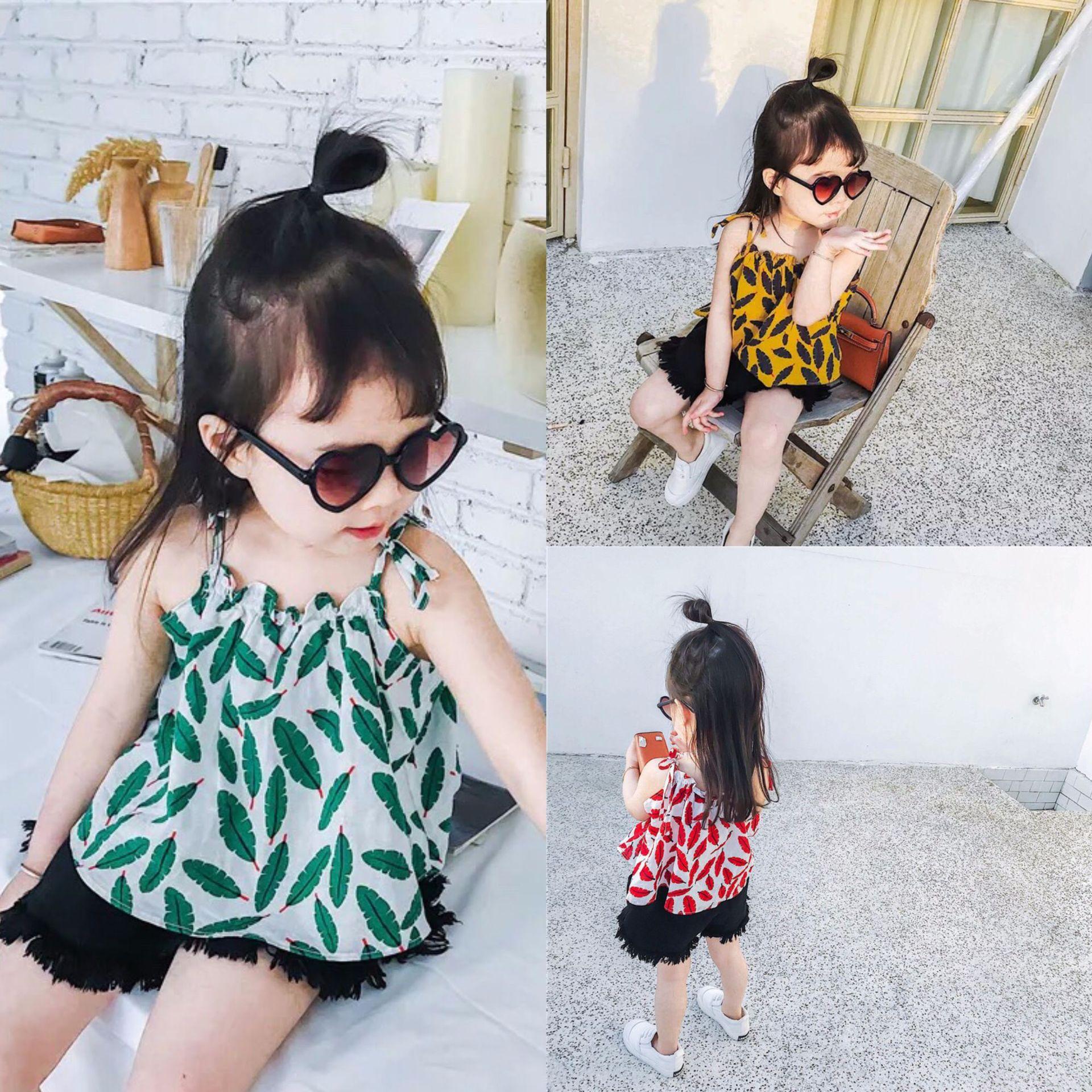 Καλοκαίρι κορίτσια ρούχα καλοκαίρι μίνι εκτύπωση φύλλο φόρεμα ... ddb7e676bfd