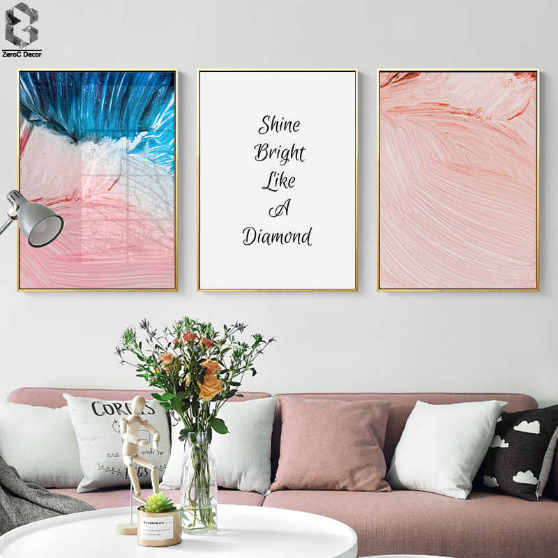 Abstract Art Canvas Painting Modern Wall Picture Quotes, Watercolor Pastel Art Canvas Prints and Poster Home Wall Art Decor