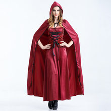 4609bb9f784 sexy red riding hood costumes cape cosplay Fantasia Party adults halloween  costume for women plus size carnival lady fancy dress
