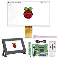 For Raspberry Pi 3 LCD 7 inch Screen 1024*600 Pixel 50pin Display + Acrylic Case Holder for Raspberry Pi 3 Model B 3B Plus 2B