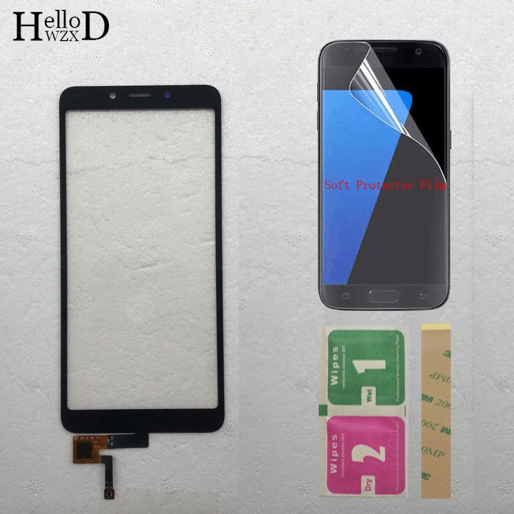 Mobile Touch Screen Panel Digitizer Glass Lens Sensor For Xiaomi Redmi 6 / Redmi 6A Touch Screen Front Parts + Protector Film