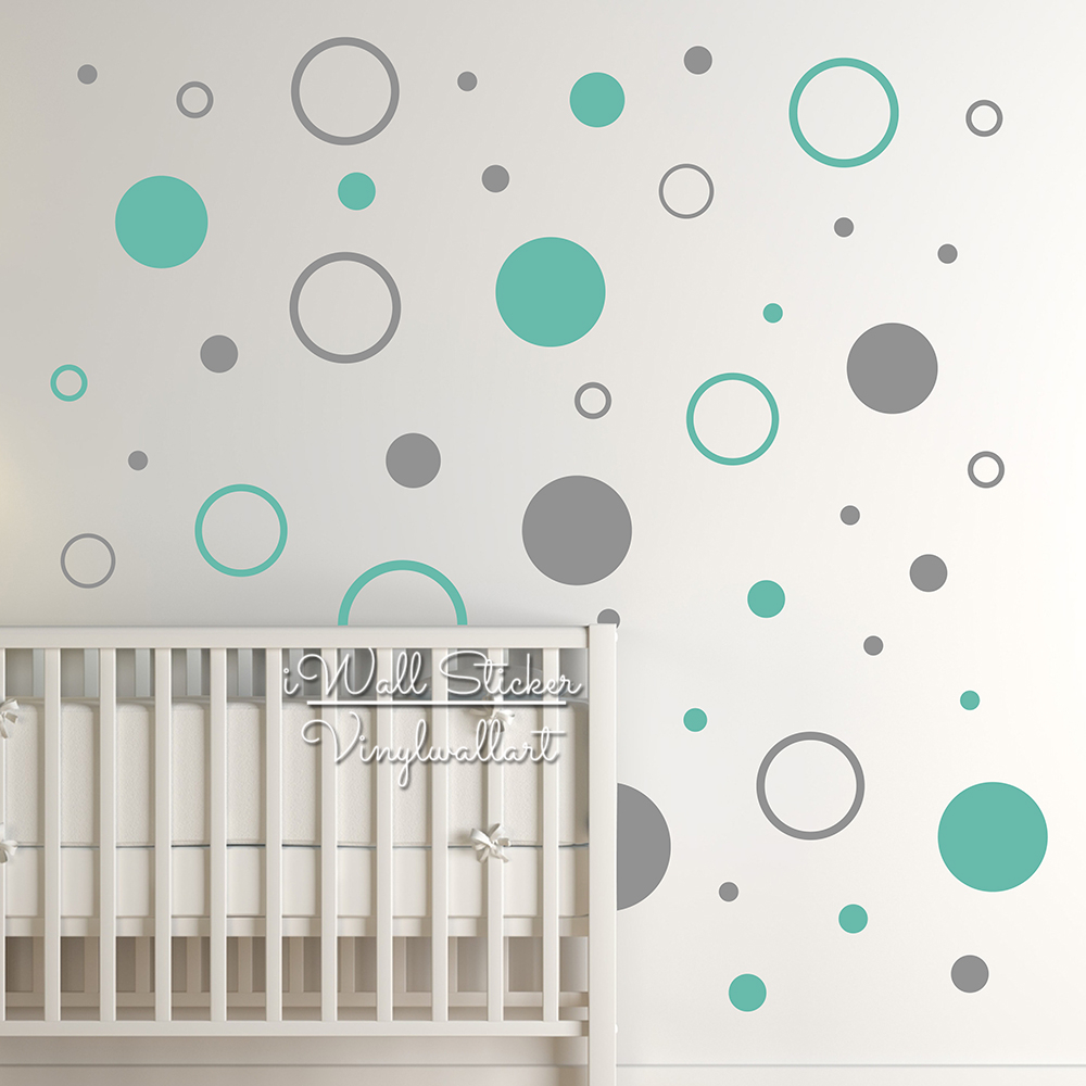 Dots Wall Sticker Baby Nursery Polka Dot Wall Decal Kids Room Decor