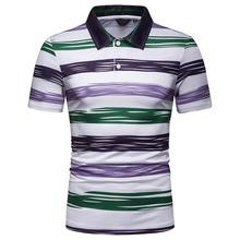 Striped Beach leisure Summer Tops Business Polo Shirt Men Clothes Short sleeve Casual Tees Men Polo Shirt Red Yellow Green все цены