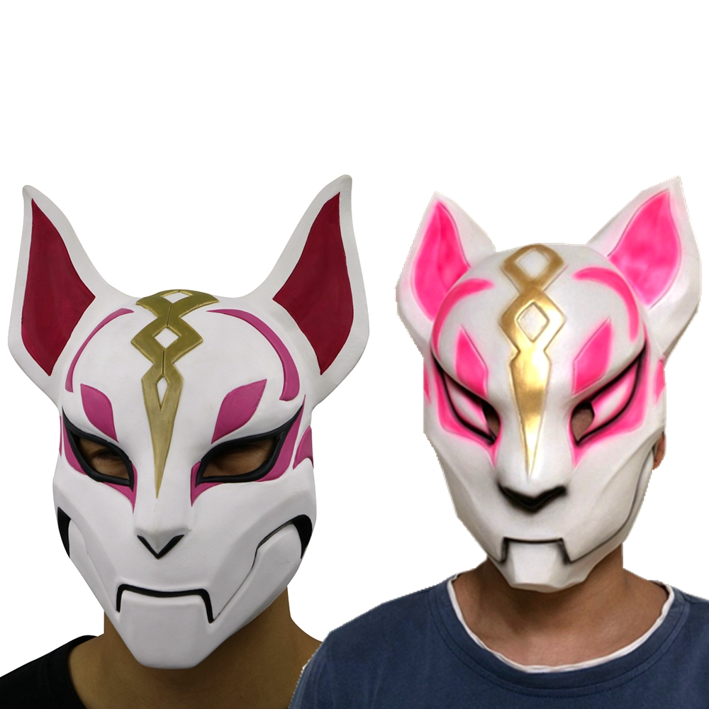 Unisex Game Fox Drift Skin Adult Latex Mask Cosplay Halloween Party Masks Props Gift