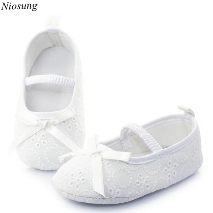 New Baby Infant Girl White Princess Cloth Anti-slip New Born Baby Shoes Casual First Walkers Sneaker Shoes