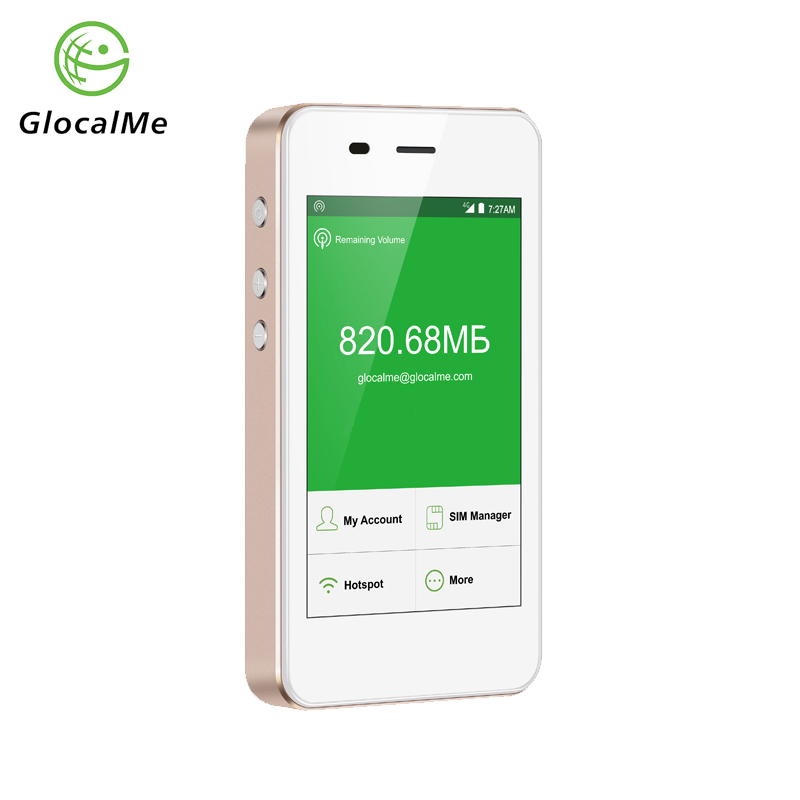 GlocalMe 4G WiFi Router Free Roaming Fast Network Portable Hotspot with Power Bank MiFi Dual Sim Card Slot