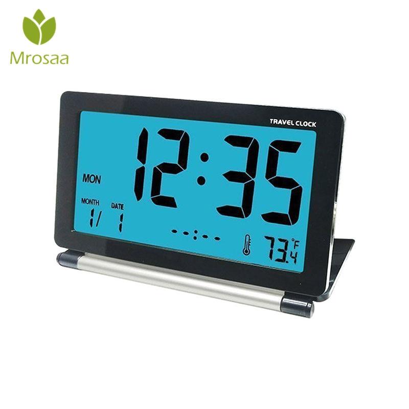 Home & Garden Sunlynn Digital Led Desktop Clock Vintage Thermometer Alarm Clock With Green Display Room Decorative Blue Red A Table Clock Clocks