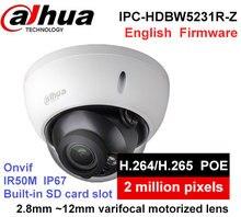 Dahua IPC-HDBW5231R-Z IP Camera H2.65 H2.64 2.8mm ~12mm varifocal motorized lens 2MP IR50M built-in SD card slot POE Webcam