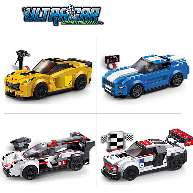 Super Sports Racing Truck Car Model DIY Building Block Bricks Toys Set Gift Compatible With LegoINGly Technic les enfants pj racing mission cruiser car dessin maskmm toy anime pj car big truck display jouet children bithday gift toys