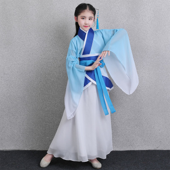 Tang Dynasty Fairy Hanfu Dance Dress Girls Traditional Elegant Princess Costume Children Ancient National Cosplay Stage Clothing