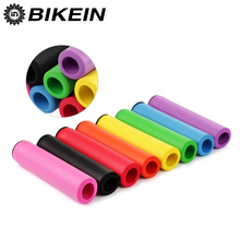 BIKEIN Cycling Mountain Bike Soft Handlebar Grips Ultralight Bar Ends High Density Silicone Sponge MTB Grip Bicycle Parts 25g(China)