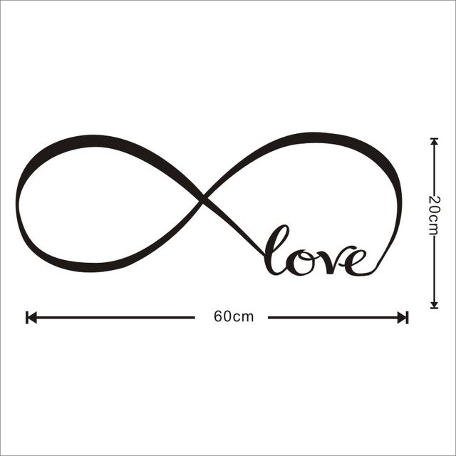 Online Shop Infinite Symbol With Love Means Endless Love Wall